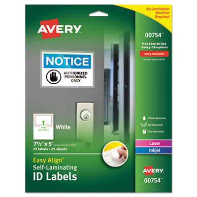 Avery® Easy Align™ Self-Laminating ID Labels