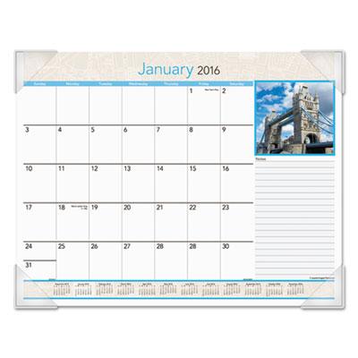 AT-A-GLANCE® European Destinations Desk Pad Calendar