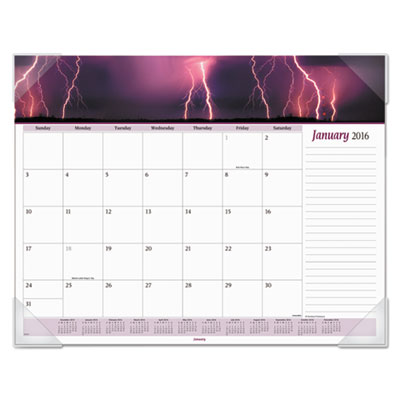 AT-A-GLANCE® Mother Nature Recycled Monthly Desk Pad