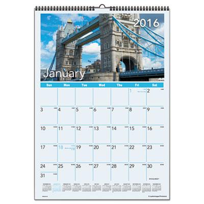 AT-A-GLANCE® European Destinations Wall Calendar