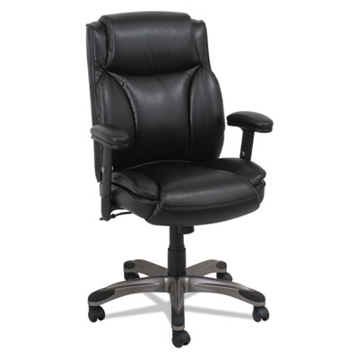 Alera® Veon Series Leather Mid-Back Manager's Chair