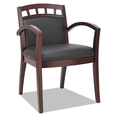 Alera® Reception Lounge 500 Series Arch Back Cut-Out Wood Guest Chair