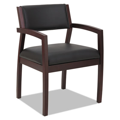 Alera® Reception Lounge 500 Series Half Back Wood Guest Chair
