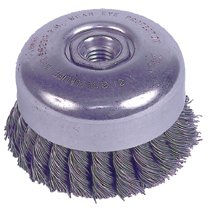 Weiler® Wire Cup Brushes with Internal Nut