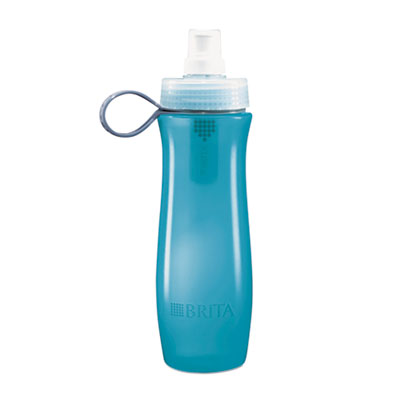 Brita® Soft Squeeze Water Filter Bottle - Aqua Blue