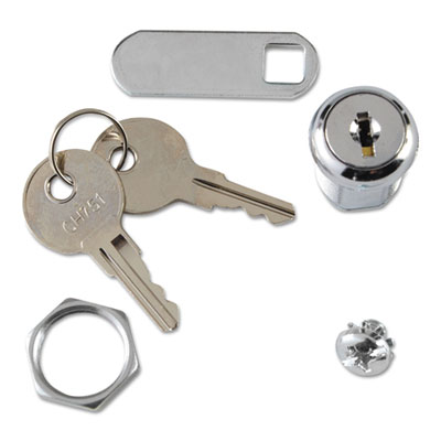 Rubbermaid® Commercial Replacement Lock & Key for Locking Janitor Cart Cabinet