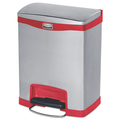 Rubbermaid® Commercial Slim Jim® Stainless Steel Step-On Container
