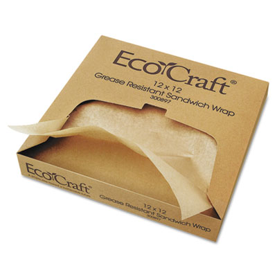 Bagcraft Papercon® EcoCraft® Grease-Resistant Paper Wrap & Liner