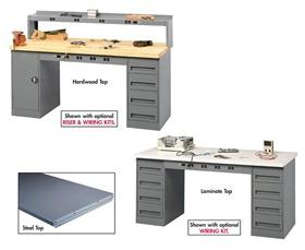 TENNSCO ELECTRONIC WORKBENCHES WITH MODULAR CABINETS