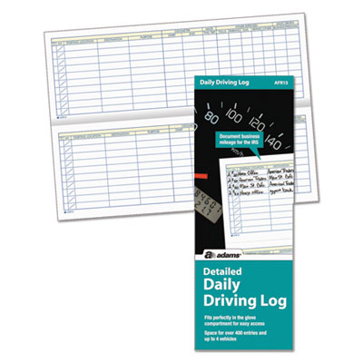 Adams® Detailed Daily Driving Log