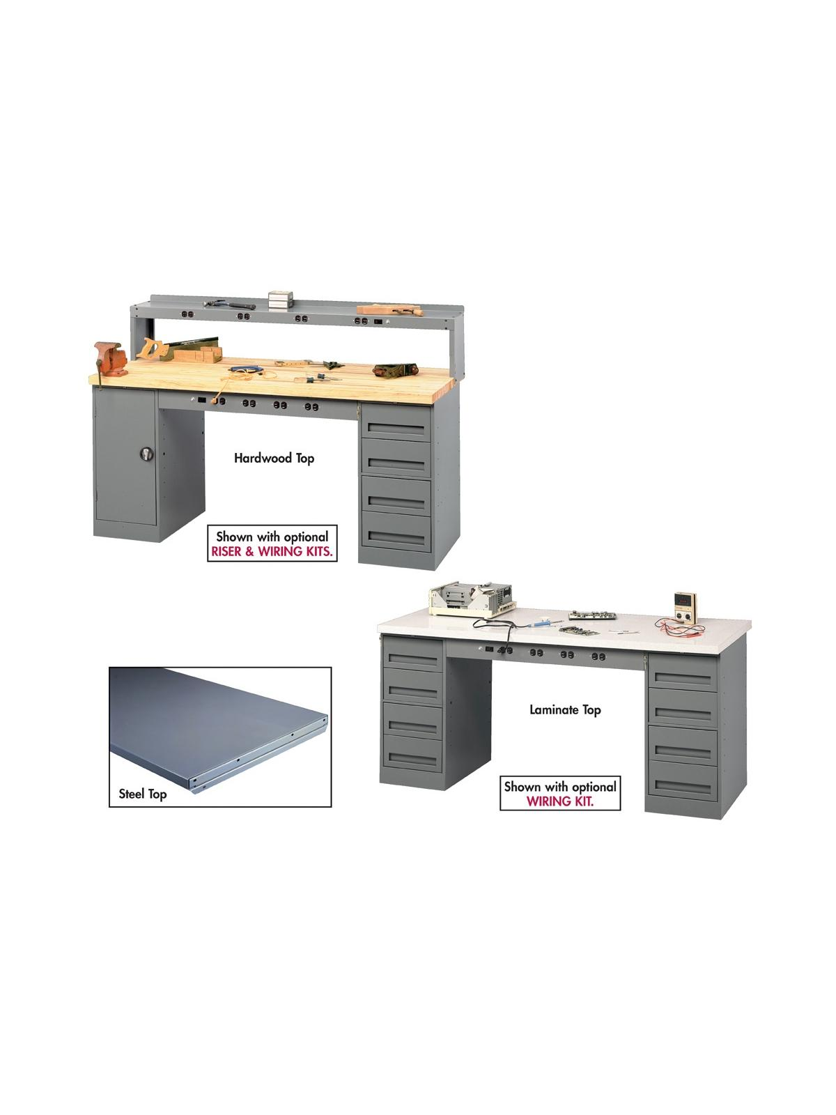 Tennsco Electronic Workbenches With Modular Cabinets At