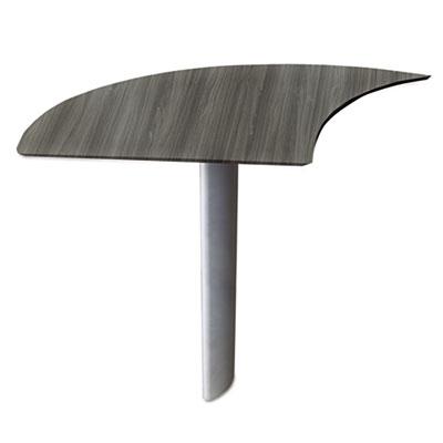 Mayline® Medina™ Series Laminate Curved Desk Extension