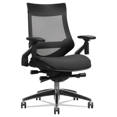 Alera® EB-W Series Pivot Arm Multifunction Mesh Chair