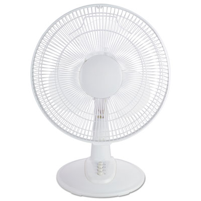 "Alera® 12"" 3-Speed Oscillating Desk Fan"