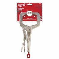 Milwaukee® Electric Tools TORQUE LOCK™ C-Clamp Locking Pliers with Regular Jaws