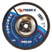 Weiler® TIGER® X Coated Abrasive Flap Discs
