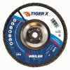 Weiler® TIGER® X Coated Abrasive Flap Discs