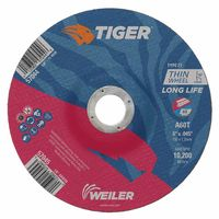 Weiler® Tiger A60T Long Life Depressed Center Thin Cutting Wheels