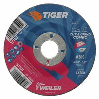 Weiler® Tiger A30S Long Life Depressed Center Cut & Grind Combo Wheels