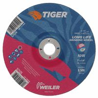 Weiler® Tiger A24S Long Life Depressed Center Grinding Wheels