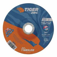 Weiler® Tiger Zirc Z60T Fast Cut and Long Life Thin Cutting Wheels