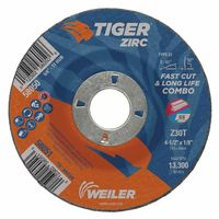Weiler® Tiger Zirc Z30T Fast Cut and Long Life Cut & Grind Combo Wheels