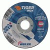 Weiler® Tiger Inox A24R Fast Cut and Long Life Depressed Center Grinding Wheel