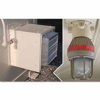 Justrite Interior Light-Fan Package-Outdoor Safety Locker
