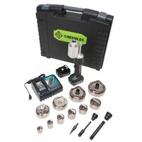 Greenlee® Speed Punch® Knockout Kits w/ LS100 Battery-Powered Driver