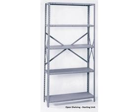OPEN AND CLOSED DURABLE SHELVING
