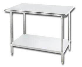 GLG SERIES STAINLESS STEEL WORK TABLE