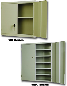 WALL/BENCH STORAGE CABINETS