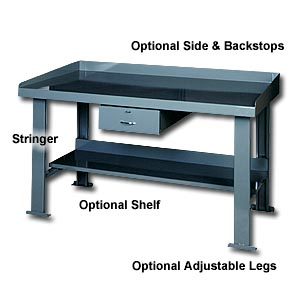 HEAVY DUTY  WORKBENCH WITH FLARED LEGS