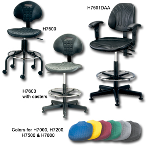 BEVCO 7000 SERIES ERGONOMIC POLYURETHANE SEATING