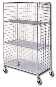Three-Sided Enclosure Cart