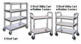 2, 3 & 4-SHELF WIRE CARTS