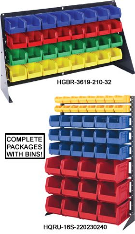 COMPLETE PRE-CONFIGURED PANELS & PACKS w/ BINS