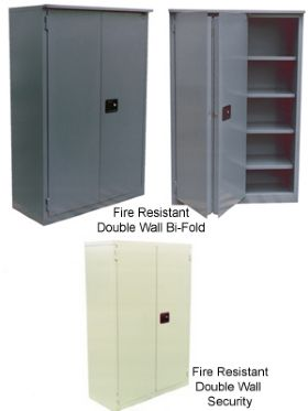 Fire Resistant Double Walled Security Cabinets At