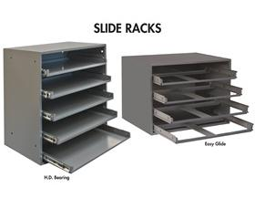 LARGE AND SMALL COMPARTMENT BOXES SLIDE RACK CABINET AND STURDY BASE