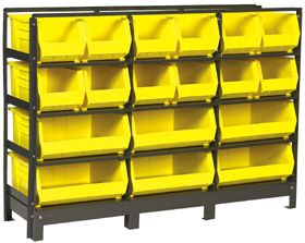 Exceptionnel Shelf Storage Systems With Storage Bins · AKROBIN® SHELF RACK U0026 BINS