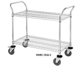 FREE SHIPPING CHROME WIRE SHELVING CARTS