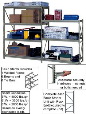 HEAVY-DUTY Z-BEAM STORAGE RACK