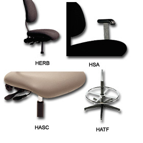 ERGONOMIC STANDARD SERIES OPTIONS