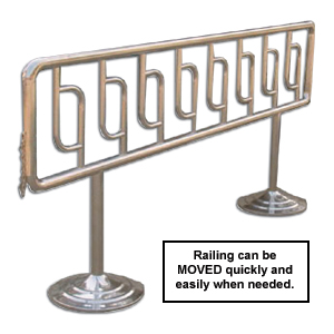 PORTABLE STAINLESS STEEL RAILING