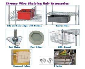 WIRE SHELVING PARTS & ACCESSORIES