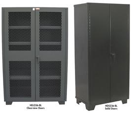 HEAVY-DUTY WELDED CABINETS - SOLID AND CLEARVIEW DOORS