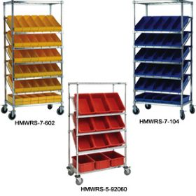 BIN CARTS - SLANTED MOBILE AND STATIONARY