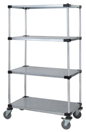 SOLID SHELF MOBILE CART