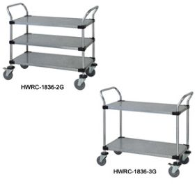 SOLID SHELF UTILITY CARTS