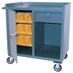 Model JG - With 1 Drawer, 1 Door & Plastic Bins